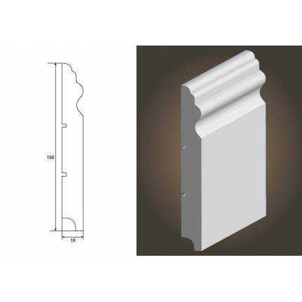 Luwr 150 - listwa przypodłogowa MDF, lakierowana Lagrus