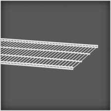 Półka ażurowa 40, 1212 mm biała
