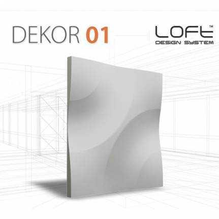 Panel ścienny 3D Loft System Model 01