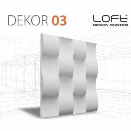 Panel ścienny 3D Loft System Model 03